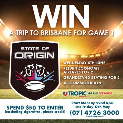 Win a trip to watch GAME 1 STATE OF ORIGIN!