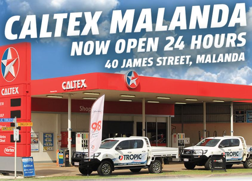 Caltex Malanda Now Open 24 Hours!