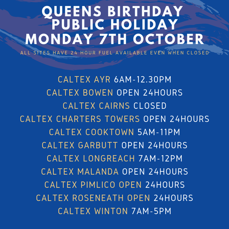 Queens Birthday Public Holiday Trading Hours