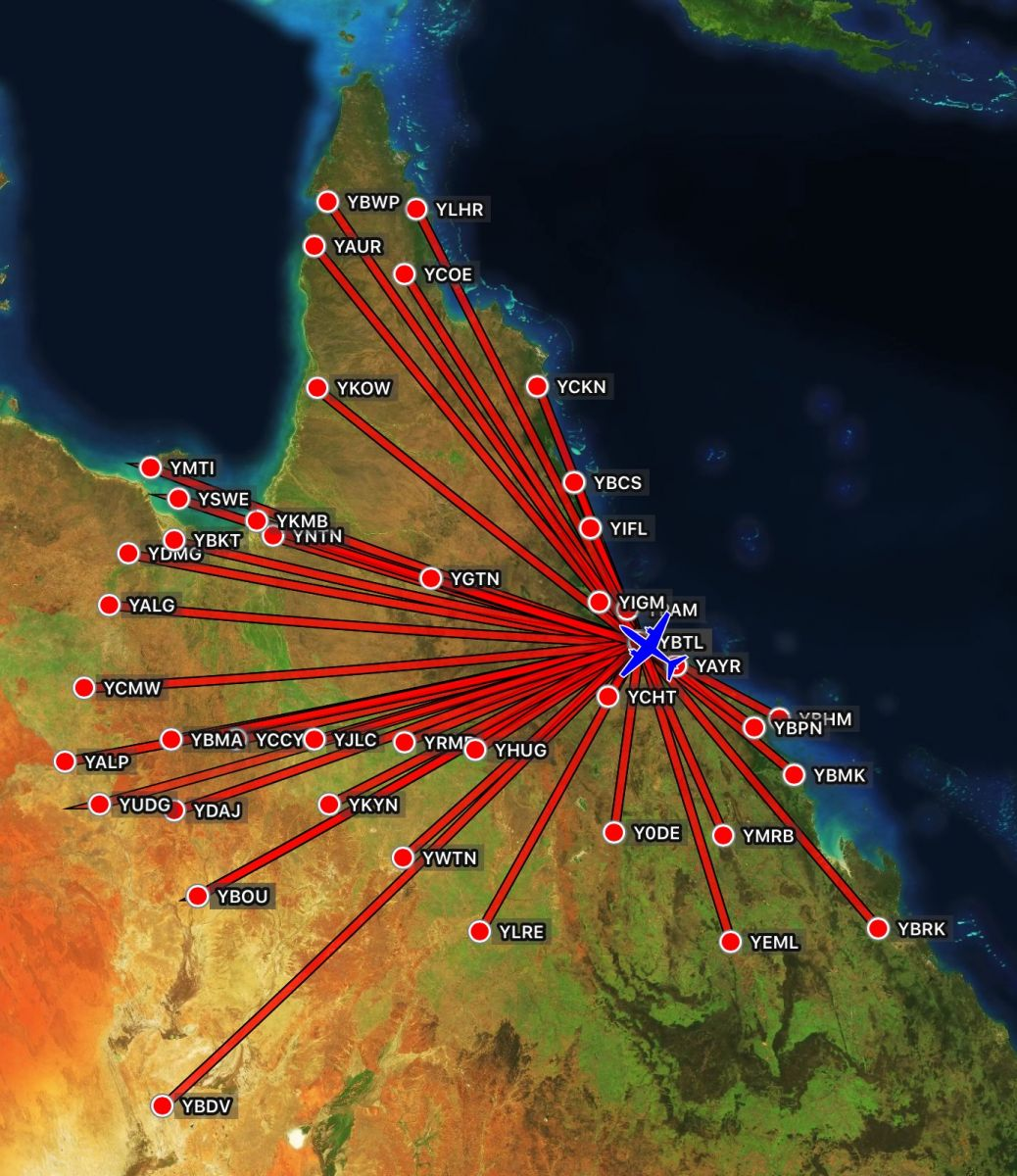 ZephAir Australia Typical Routes