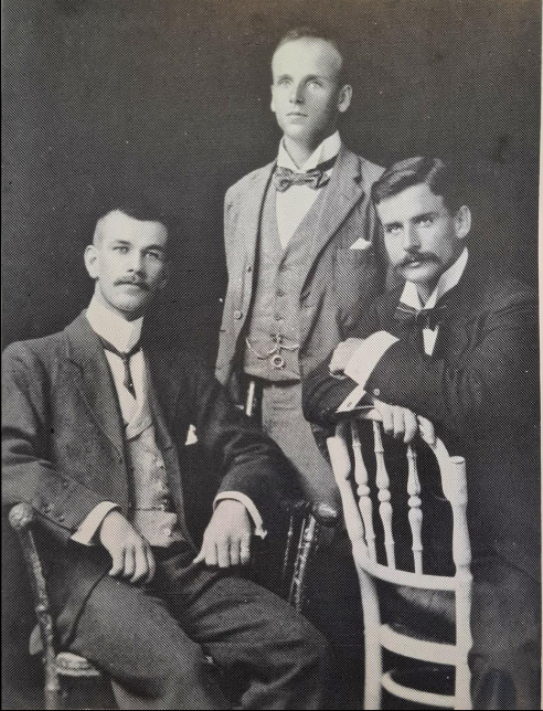 Lachlan Chisolm Wilson (centre) and William Samuel Buchanan (right)