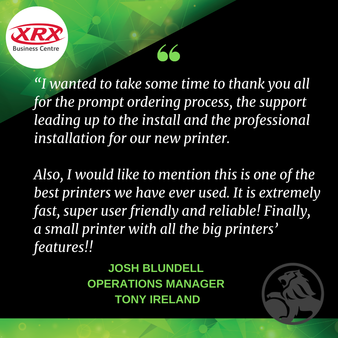 Testimonial by Holden for XRX Business Centre