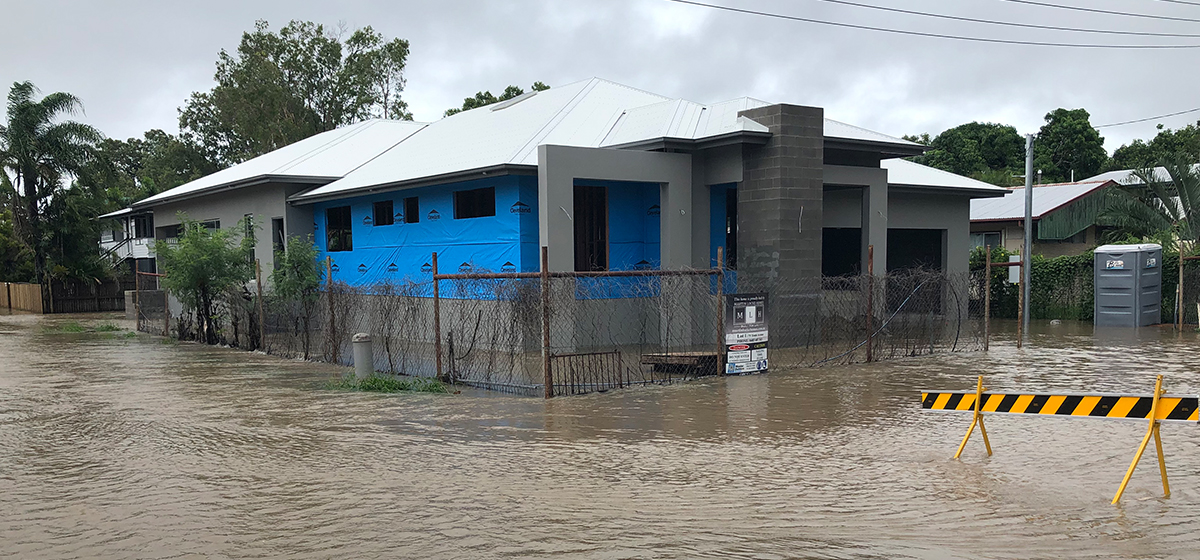 Bill & Alison's property was flooded during the February Monsoon event in Townsville