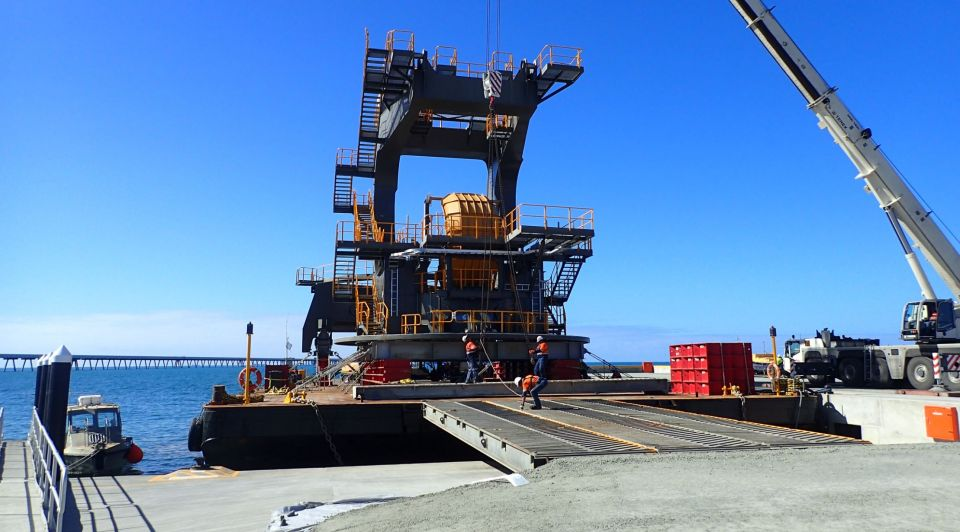 Pacific Marine Group | Abbot Point Stacker Reclaimer Delivery