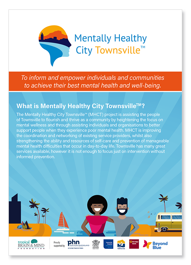 Mentally Healthy City Townsville Information Brochure