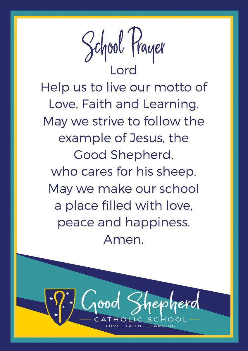 School Prayer   Good Shepherd Catholic Community School