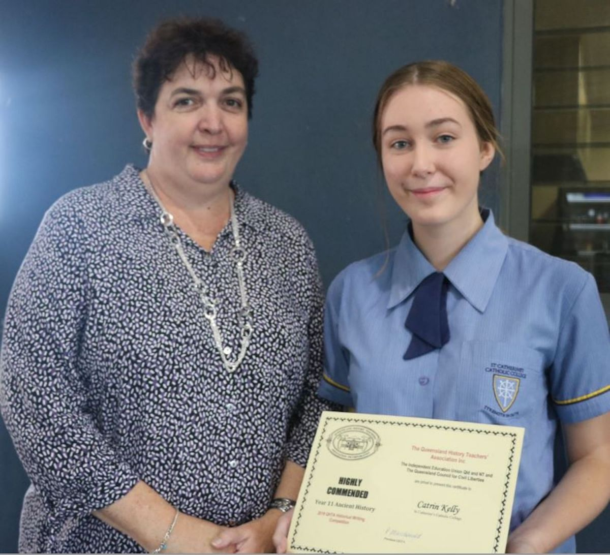 Praise received for history comp entrants