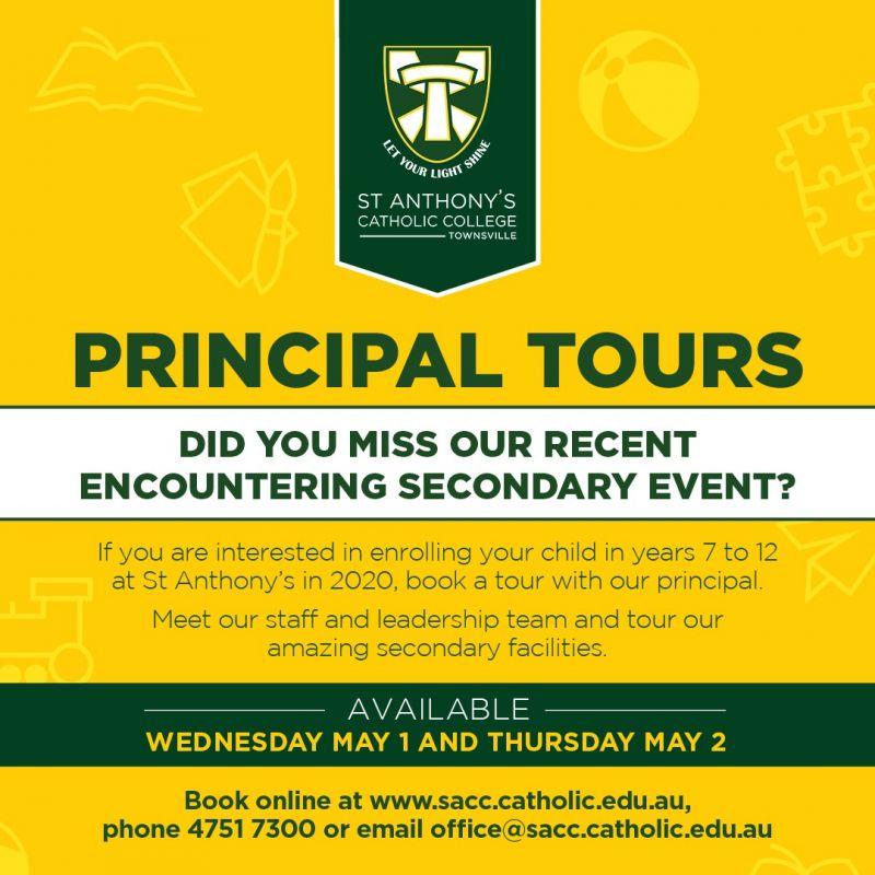 Principal Tours 2019