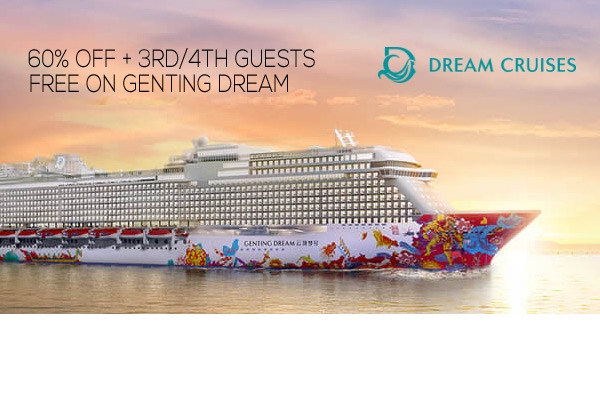 Save up to 60% Off! 3rd/4th Guests cruise FREE!