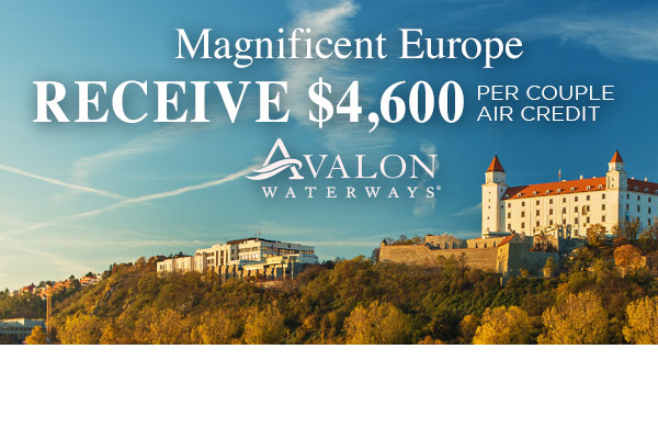 Magnificent Europe 2018 $4,600 Flight Credit per Couple!