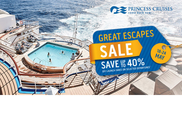 7 Day Great Escapes Sale! Save up to 40% on Launch Fares!