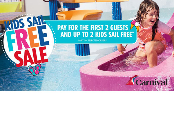 Carnival's Kids Sail Free Sale!  Call Now To Book!