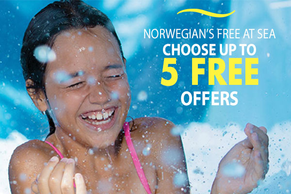 Free At Sea! Choose Up to Five Amazing Free Offers!