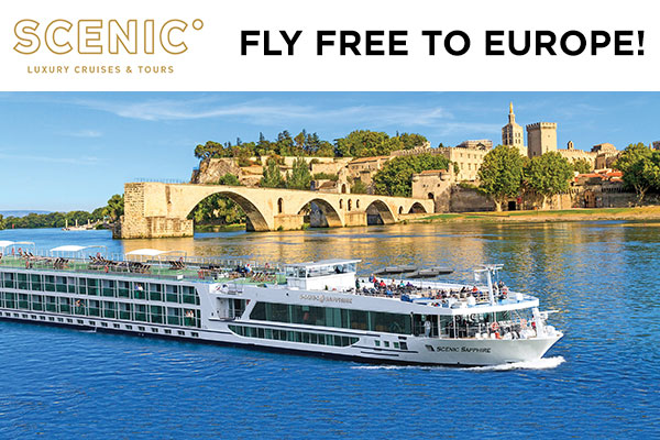 Scenic Fly Free to Europe!