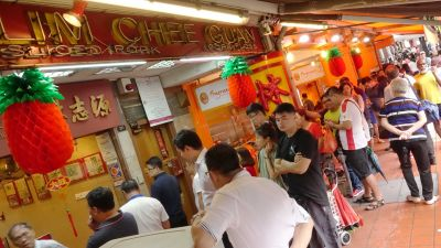 Bak Kwa (BBQ pork) fever emerged again, some people even paid the migrant worker to queue up for them. S$5 per hour in line and S$10 meal allowance.