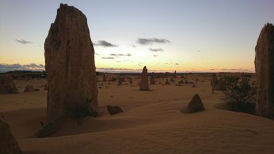 Desert sunset Western Australia, shot taken by Chris Angela's partner - beautiful !