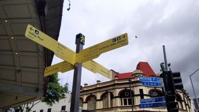 The First International Multi-cultural City in Australia is Brisbane, the street signs around Brisbane proves this...