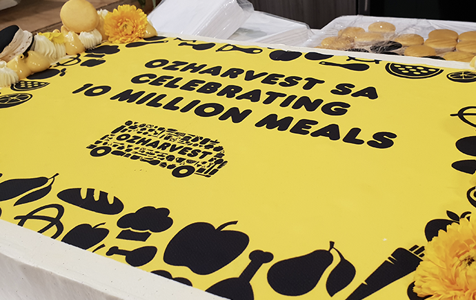 OzHarvest Adelaide celebrates 10 million meals - image of the cake