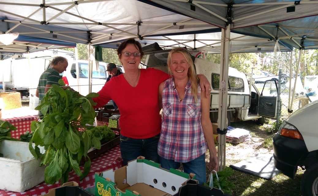Two of our fabulous supporters from Noosa Farmers Market