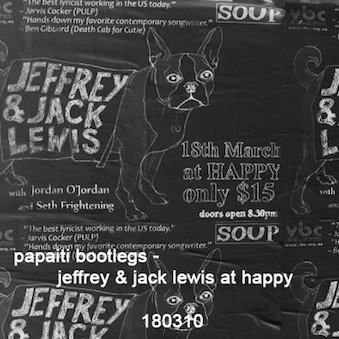 Jeffrey & jack lewis live at happy 180310