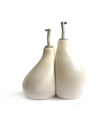 Ceramic Olive Oil & Vinegar Cruet Set