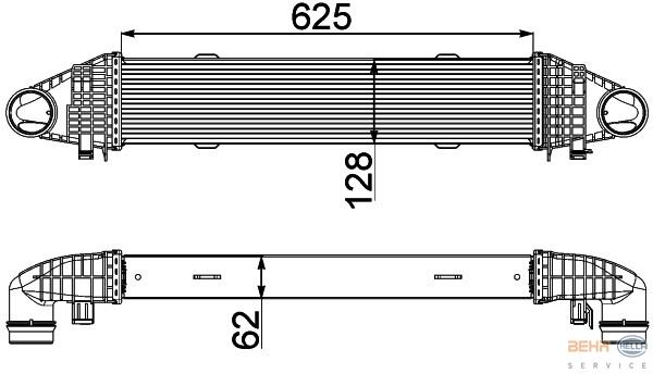 Hella Intercooler 8ML 376 777-091 fits Mercedes-Benz C-Class (W204)