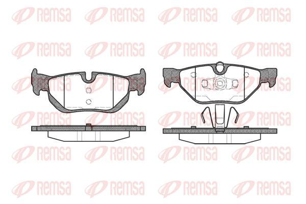 REMSA Rear Brake Pad Set 1145.00 fits BMW X1 sDrive 18 d (E84), sDrive 18 i (...