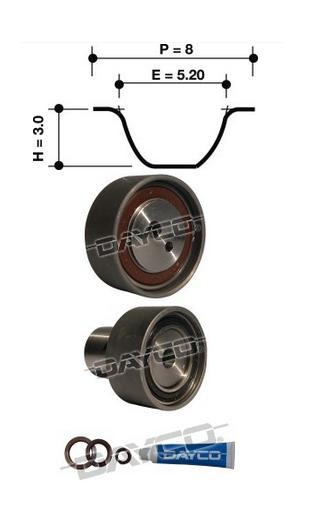 Dayco Timing Belt Kit KTBA029 fits Nissan 180 SX 1.8 Turbo II (S13)