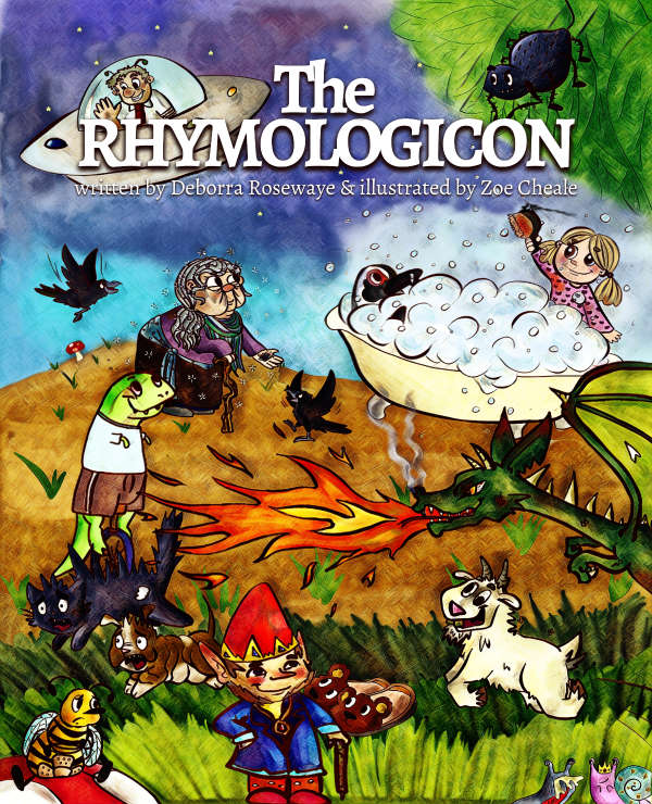 Book cover for The Rhymologicon by Deborra Rosewaye & Zoe Cheale