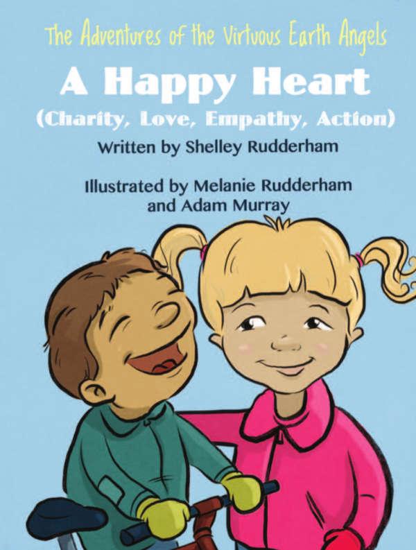Book cover for A Happy Heart by Shelley Rudderham & Melanie Rudderham & Adam Murray