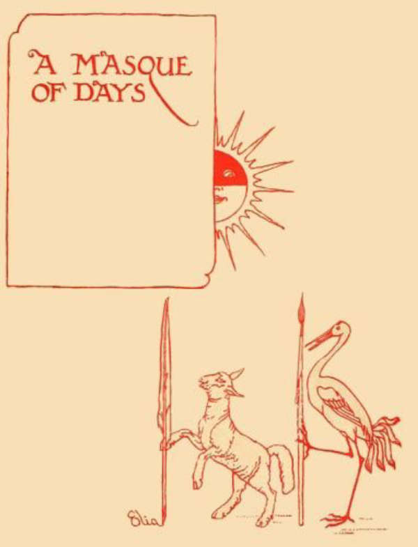 Book cover for A Masque of Days by Elia & Walter Crane