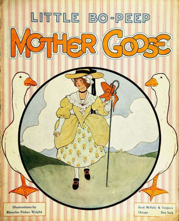 Book cover for Mother Goose by Unknown & Blanche Fisher Wright
