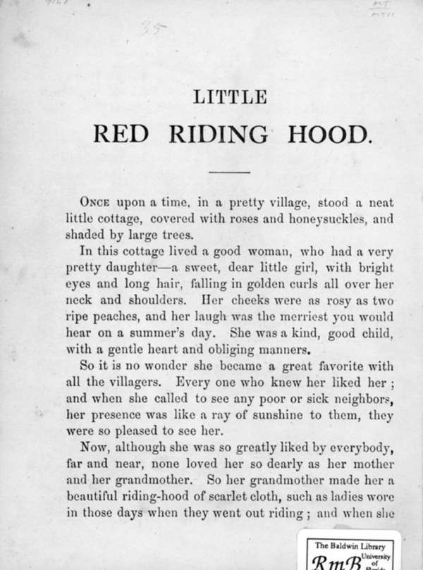 Page 2 of Little Red Riding Hood