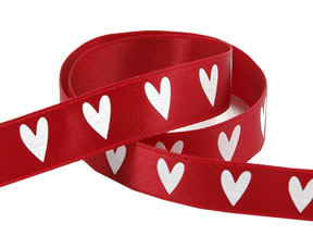 7 Red Heart Ribbon