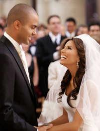eva longoria parker wedding dress