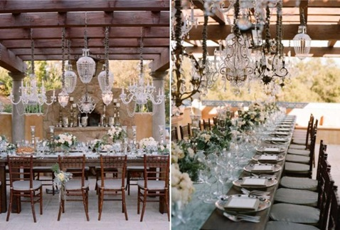 stylemeprettyelizabethmessinatable Chandeliers Make Me Sparkle!