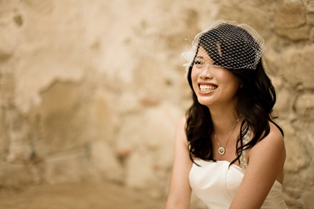 The birdcage veil is becoming a popular choice amongst brides who may not