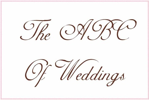pdbabcbanner1 ABC Of Weddings  The Full Alphabet