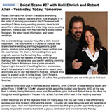 """Wedding Podcast Network founder Holly Elrich talks about Polka Dot Bride's """"5 Ways To Plan Your Wedding While Sick In Bed"""" post January 2008"""
