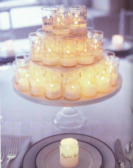 candles centerpiece thumb A Decorated Wedding Candles