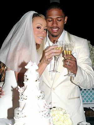 Songstress Mariah Carey wed Nick Cannon in a surprise April wedding in