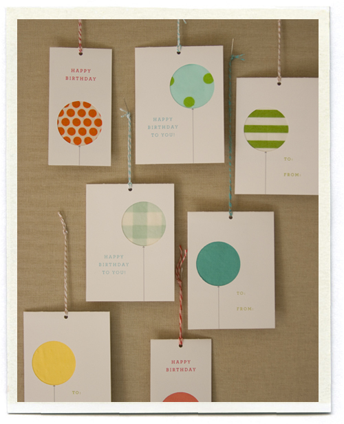 birthday tags Polka Dot Pretties