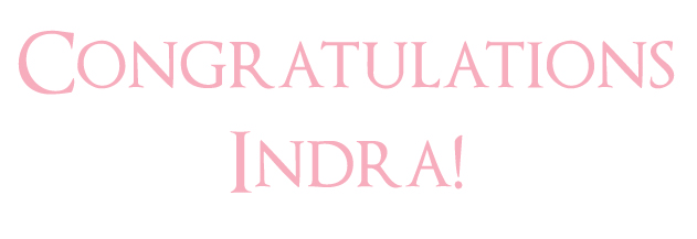 indra1 Win Your Dream Wedding Cake The Winner