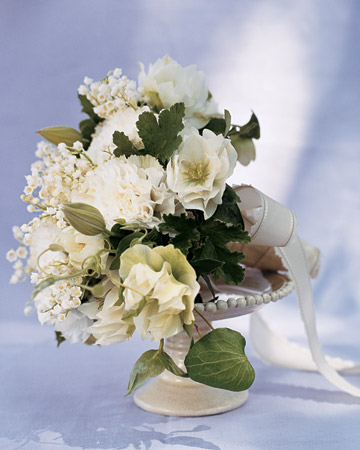 White Wedding Flowers Shoot