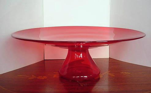 ma436 cake stnd ruby glass1 Radiant Ruby Glass