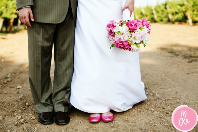 wedding dresses with colored shoes. Colored Shoes: