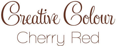 cherry red text Creative Colour Cherry Red