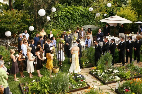 Decorating for outdoor wedding reception
