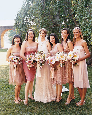 Pink Polka  Dress on Mwa102418 Spr07 Bmaids Xl Mismatched Bridesmaids