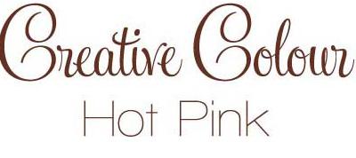 hot pink text Creative Colour Hot Pink